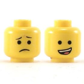 LEGO Head, Open Crooked Smile / Frown