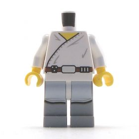 LEGO Long White Shirt with Belt over Gray Pants