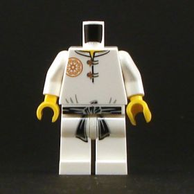 LEGO White Shirt With Flower Emblem, Black Belt, and White Pants