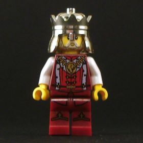 LEGO Noble (King), Red and White Outfit, Complete