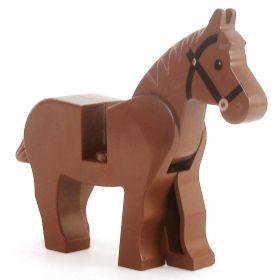 LEGO Riding Horse, Brown v1, Black Harness