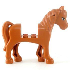 LEGO Riding Horse, dark orange, v3